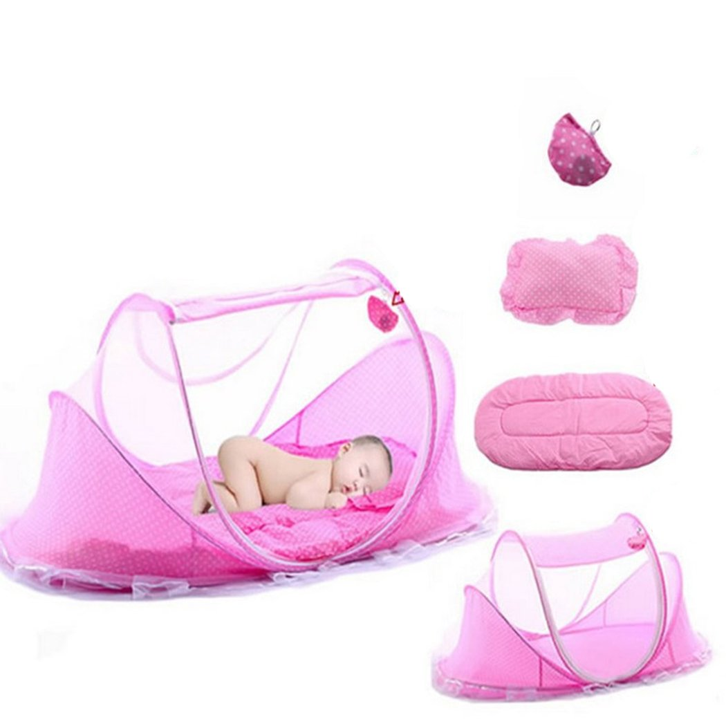 Family's Choice Ultra Thin Summer Mosquito Net for Children Portable Folding Baby Travel Bed Crib