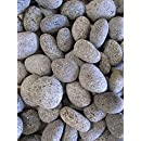 "Dragon Glass 1"" Lava Pebble, 20 lb, Black"
