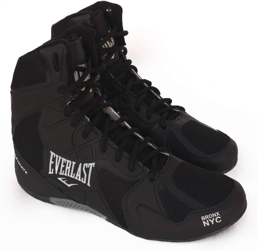 Everlast, Ultimate - Calzado de Boxeo para Hombre, Color Blanco y Negro, Negro/Plata, 43 (10): Amazon.es: Deportes y aire libre