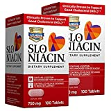 Slo-Niacin 750 mg Tablets 100 Tablets (Pack of 2)