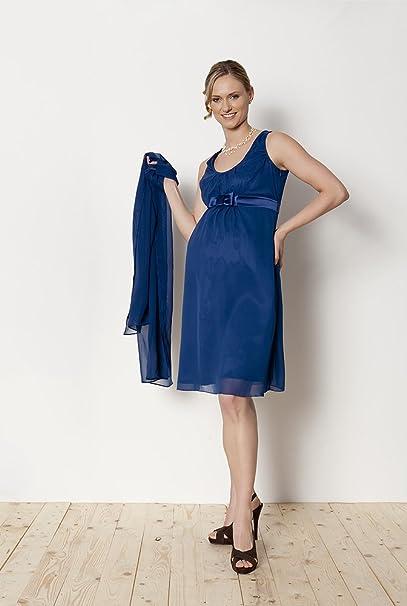 Vestido de premamá Dina, Solemne, elegante, vestido de fiesta, boda azul marino