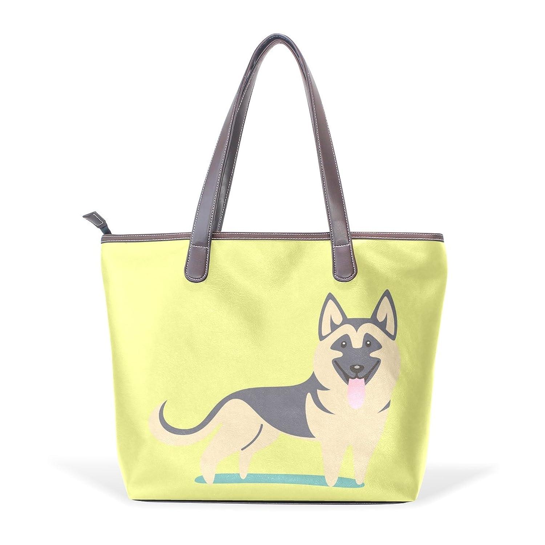 Mr.Weng Household German Shepherd Lady Handbag Tote Bag Zipper Shoulder Bag