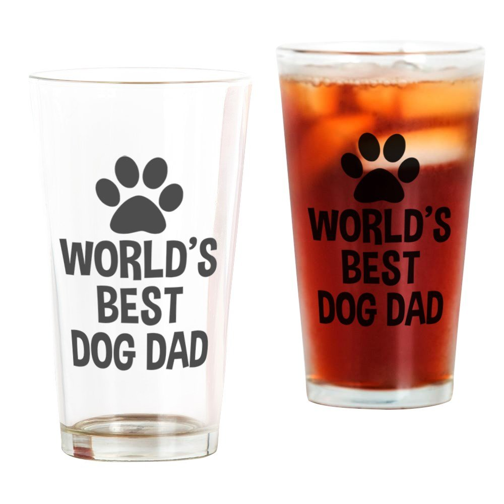 CafePress World's Best Dog Dad Pint Glass, 16 oz. Drinking Glass