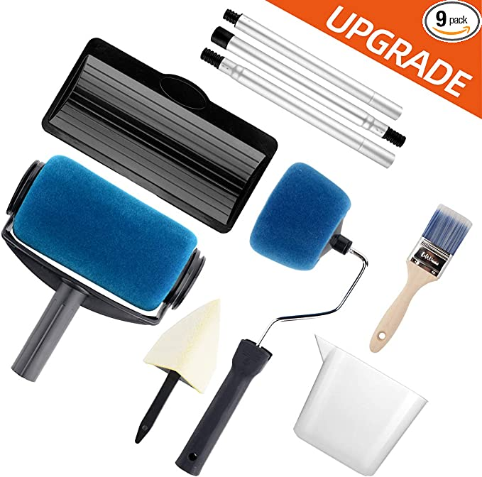 3-Piece Corner Brush Ease Roller Tray Cover Angled Head Painter Applicator Tool