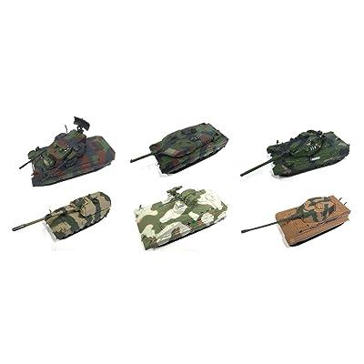LOT DE 6 CHARS MILITAIRES ALLEMANDS 1/72 WW2 PANZER LEOPARD GERMANY ARMY TANK (EM 3-9-16-20-23-32)