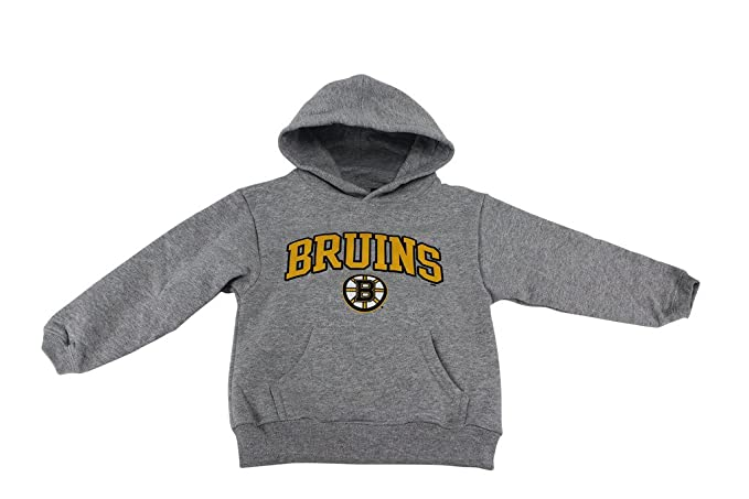 Amazon.com  Outer Stuff Boy s NHL Boston Bruins Hockey Hoodie Grey ... f8e4ad95d76