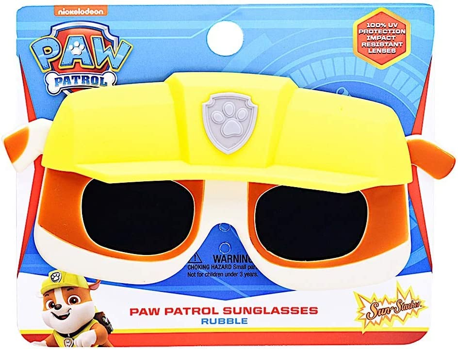 Sun-Staches Licensed Paw Patrol Rubble Lil Characters Child Shades Costume Party Favor Sunglasses UV400