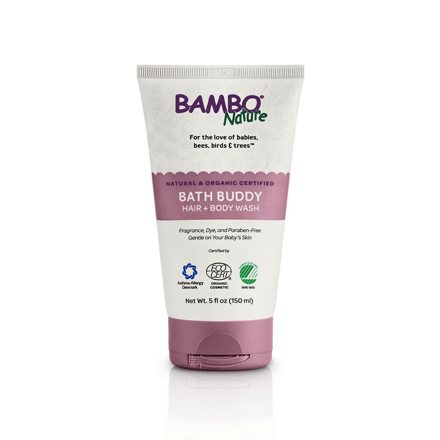 Bambo Nature Bath Buddy Hair & Body Wash, 5 fl oz, 6 Tubes/Case by Bambo Nature