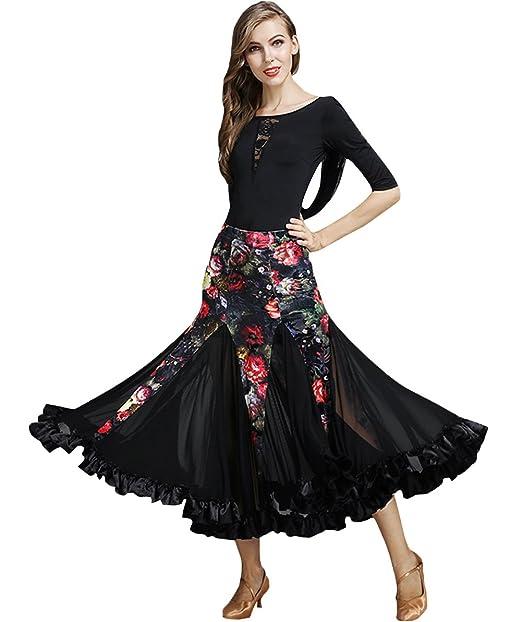 Amazon.com: nakokou Mujer Salón de baile vestido de baile de ...