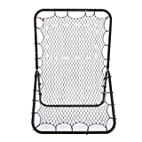 (US STOCK)Pesters 6 x 4 ft Pitchback Rebound Net , Portable Multi-Sport Rebounder Baseball and Softball Rebounder Net, Practice Nets Training Equipment