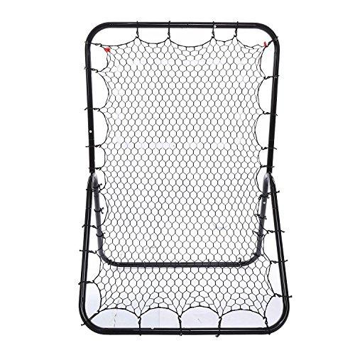(US STOCK)Pesters 6 x 4 ft Pitchback Rebound Net , Portable Multi-Sport Rebounder Baseball and Softball Rebounder Net, Practice Nets Training Equipment by Pesters