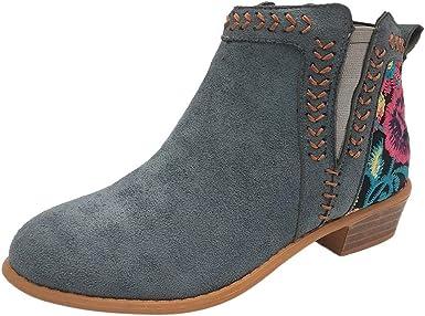 embroidered heel booties