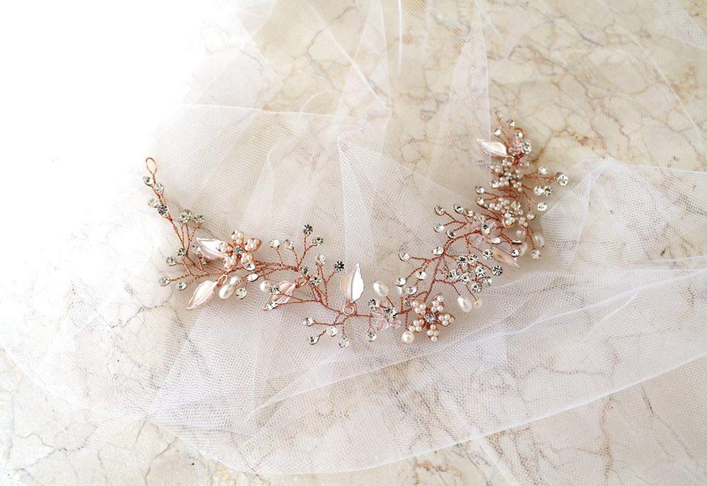 c033d106b Buy Missgrace Bridal Crystal Long Wedding Hair Vine -Long Crystal Hair  Accessories Online at Low Prices in India - Amazon.in
