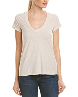 Amazon Com James Perse Women S White Scoop Neck T Shirt Clothing