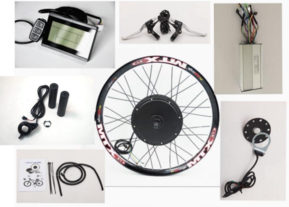 26inch ruota posteriore 48V 1500W bici elettrica kit di conversione, 35A sinusoidale controller con display LCD e Thumb Throttle