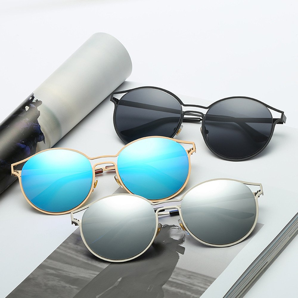MenS And WomenS Round Colorful Sunglasses Uv Protection Outdoor Sports Glasses Accessories