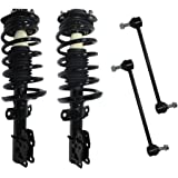 Front - Both (2) Front Driver & Passenger Side Complete Strut & Spring Assembly with (2) Sway Bar End Links - Fits Non Turbo Models Only. 11.8 Inch Center to Center - Front