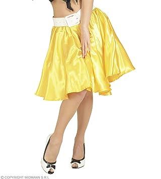 WIDMANN Rock `n Roll Gire niña de falda de raso de color amarillo ...