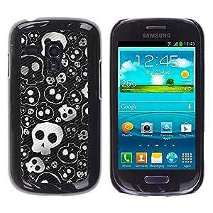 TECHCASE**Cubierta de la caja de protección la piel dura para el ** Samsung Galaxy S3 MINI NOT REGULAR! I8190 I8190N ** Skull Cute Cool Metal Design Death Punk