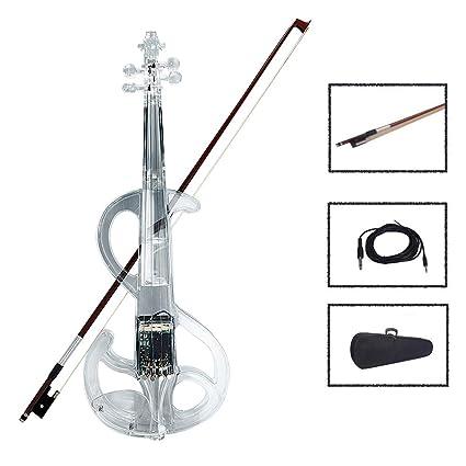Amazon.com: MG.QING Violín eléctrico 4/4 Acrílico ...