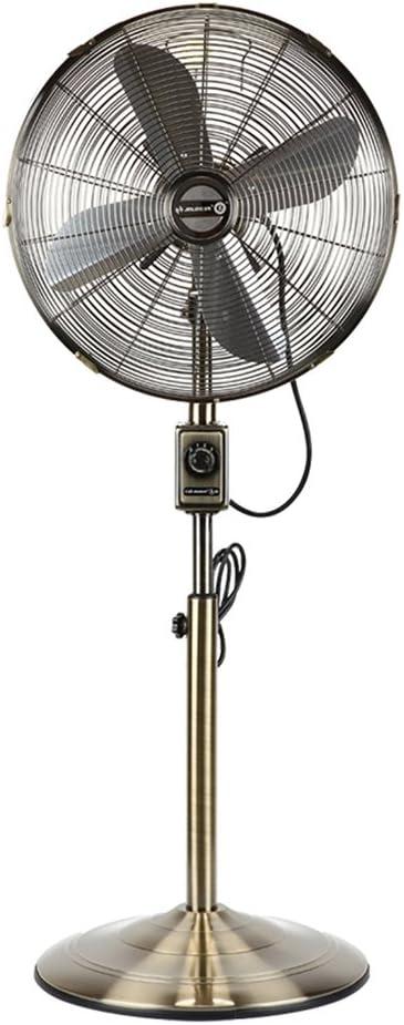 Lszdp-negozio Ventilador electrico Abanico De Pie Soporte De Pie Retro Bronce Antiguo Metal Nostálgico