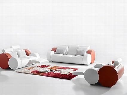 Amazon.com : Ultra Modern Italian Leather Sofa Set ...