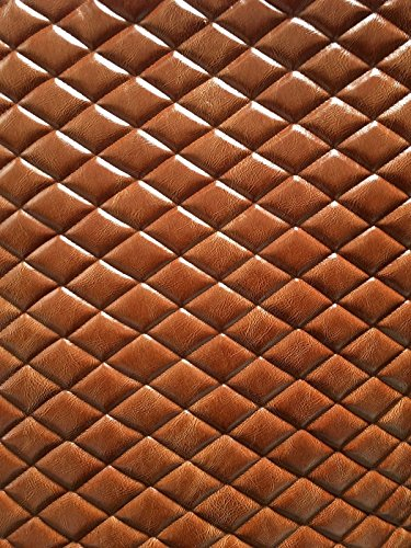 Upholstery Vinyl Leather Faux saddle distressed Diamond Quilted Vinyl auto headliner headboard fabric with 3/8