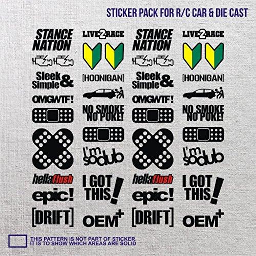 uggy jdm die cast sticker small vinyl minivan nitro trucks towing pedal boat aircraft drict flashs brz insight wheel journey machine ()