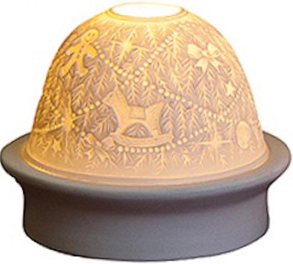 'LED de viento Luz de porcelana dom Árbol Navidad Porcelana, 10cm de altura, 12cm de diámetro, decoración para Navidad Unbekannt
