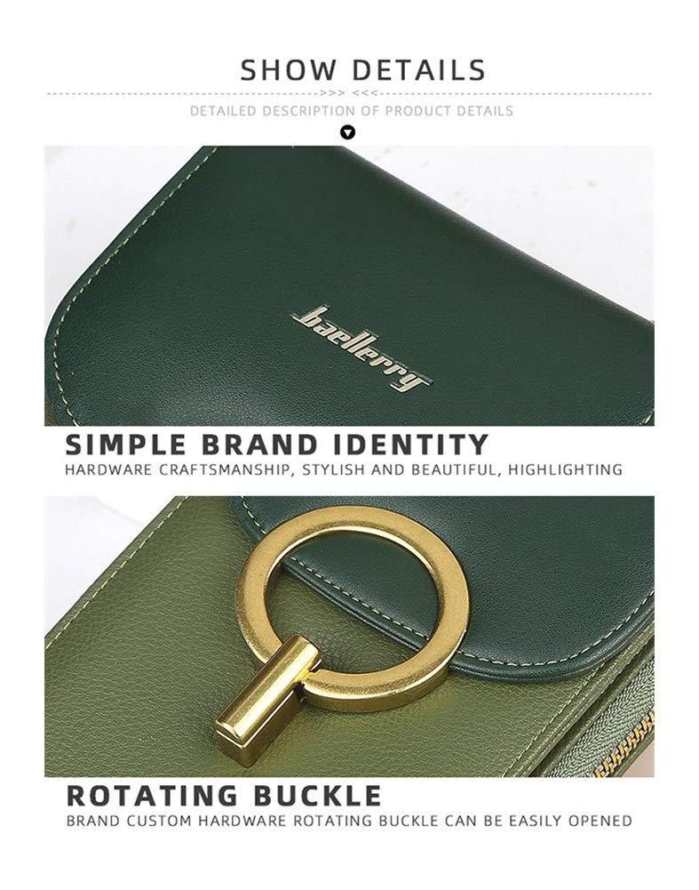 Kvinnors liten axelväska koreansk version blixtlås stor kapacitet diagonal väska kreativt lås mobiltelefon väska plånbok (färg: Blå) gRÖN