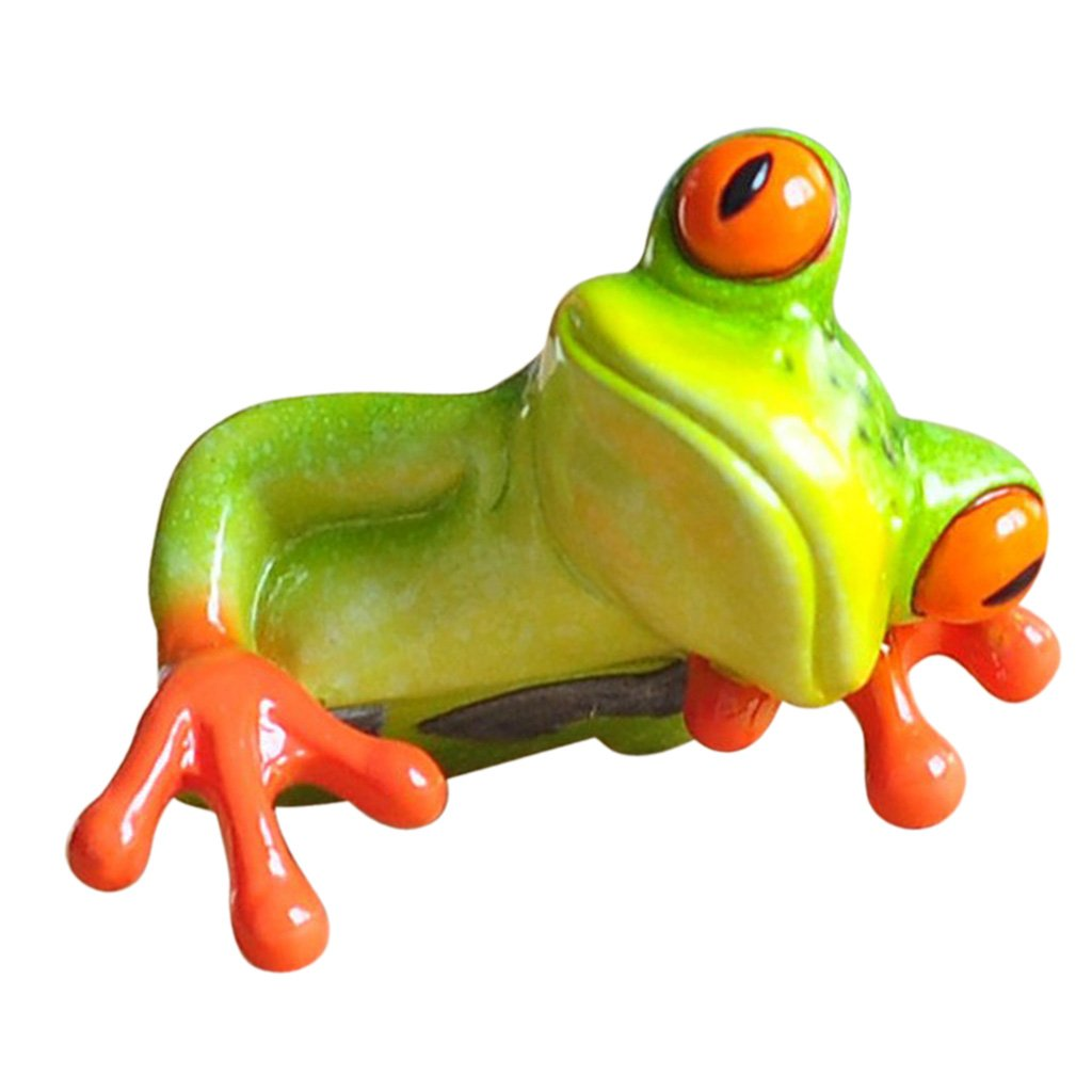 MagiDeal Résine Créative 3d Artisanat Grenouille Figurine Bureau Ordinateur Décoration - # 2 non-brand