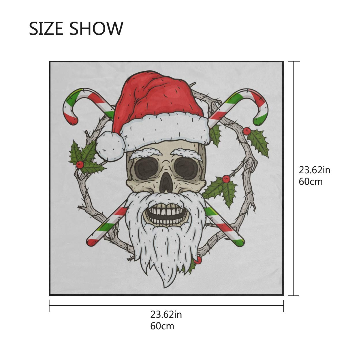 Soft Polyester Silk Outdoor Scarves Fashion Print Creative Art Christmas Skull Scarf Hair Band Womans Scarf Womans Scarf Multiple Ways Of Wearing Daily Decor
