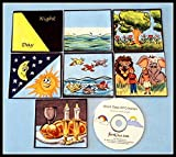 Bible Seven Days of Creation Felt Set with Music CD - Hebrew version