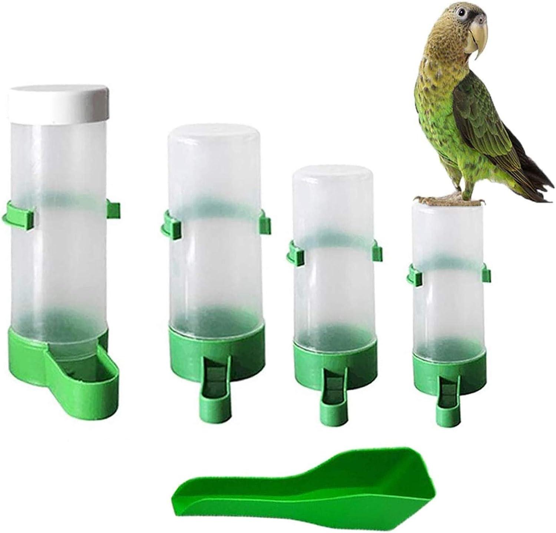 Bird Water Dispenser for Cage Automatic Bird Feeder Water Dispenser Set, Food Bowl Bottle Drinker Container Perky Pet Bird Feeder for Parrots Parakeets Budgie Cockatiel Lovebirds Finch