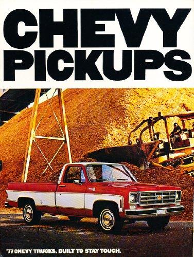 (1977 Chevrolet Truck Original Sales Brochure Catalog - Chevy Silverado)