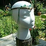 Boho Tribal Festival Headdress- Woodland Green