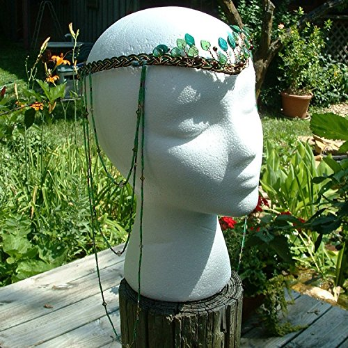 Boho Tribal Festival Headdress- Woodland Green by Thyme2dream