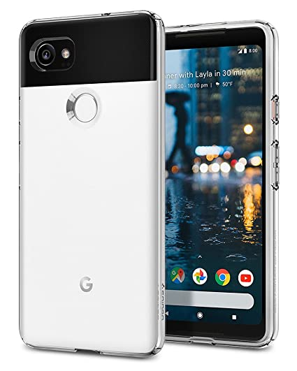 new product 287cd 7eb93 Spigen Liquid Crystal Designed for Google Pixel 2 XL Case (2017) - Crystal  Clear