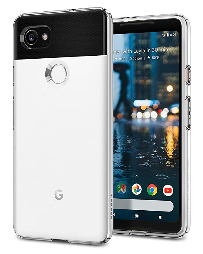 Spigen Liquid Crystal Designed for Google Pixel 2 XL Case (2017) - Crystal Clear