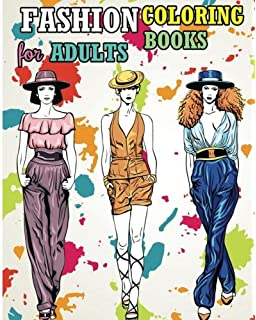 Amazon.com: FASHION Coloring Book. Grayscale: Coloring Book for ...