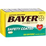 Bayer Coated 325mg Caplet Size 100ct Bayer Reg Safty Coated Caps(Pack of 2)