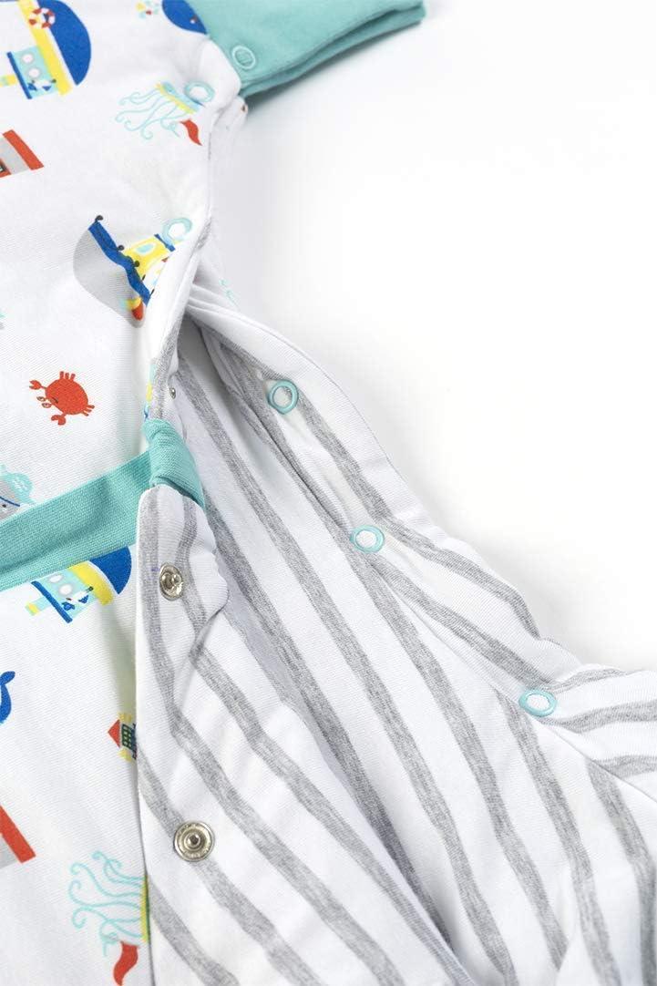 Saco de dormir Slumbersac REVERSIBLE con pies manga larga desmontables 2.5 Tog Coches 3-4//110cm