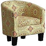 Millbury Home Florinio Arm Club Chair, Contemporary Accent Chair, Floral Medallion