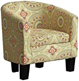 Cheap Millbury Home Florinio Arm Club Chair, Contemporary Accent Chair, Floral Medallion