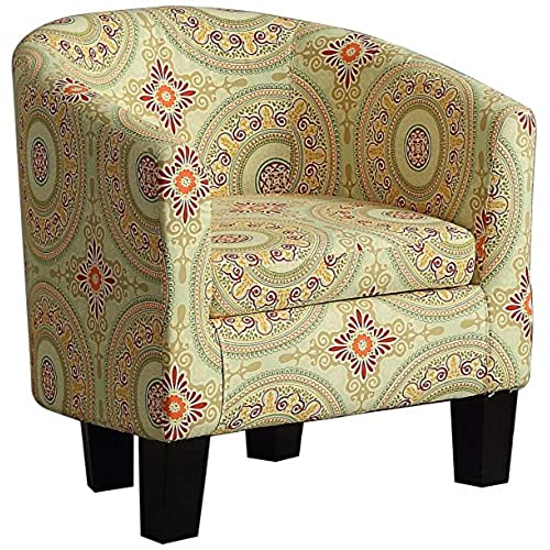 Millbury Home Florinio Arm Club Chair, Contemporary Accent Chair, Floral  Medallion
