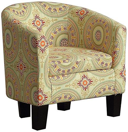 Millbury home C1A Florinio Club Chair Floral Medallion