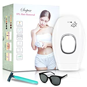 Scepcse Hair Removal for Women and Men, Permanent Hair Removal , at Home Use Painless Hair Remover on Whole Body