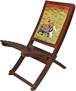 ethnic handmade solid wood folding relax chair with hand royal