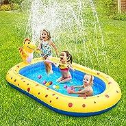 Fomoom Inflatable Kiddie Pool Sprinkler, Dinosaur Sprinkler Pool Fountain Water Toys, Cute Dinosaur Design 3 i