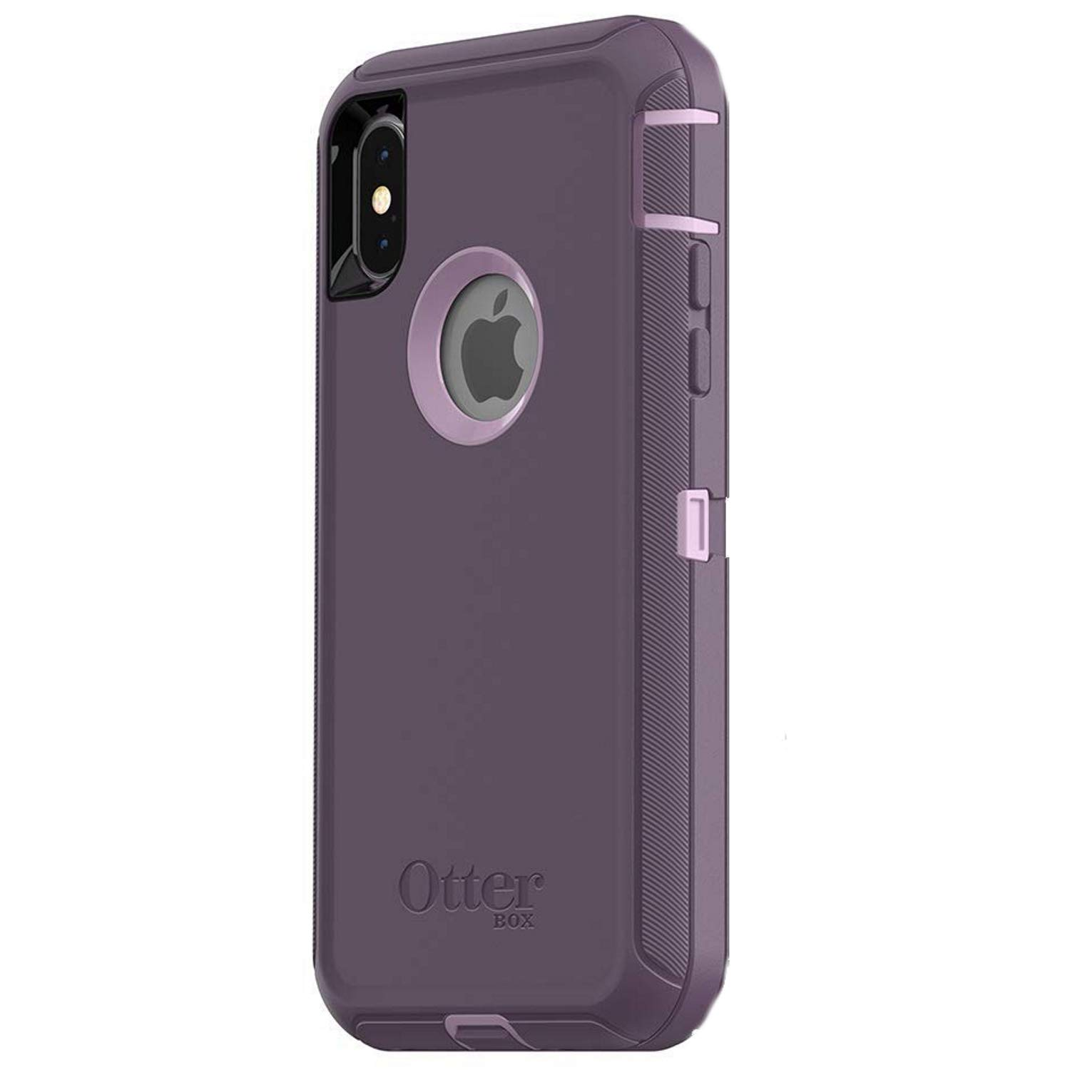 OtterBox Defender Series Case for iPhone X & iPhone Xs (ONLY), Case Only - Bulk Packaging - Purple Nebula (Winsome Orchid/Night Purple)